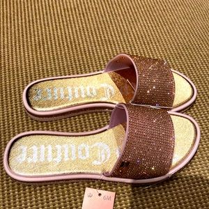 🆕👡Juicy Couture Rose Gold Sparkle🌈 Sandals